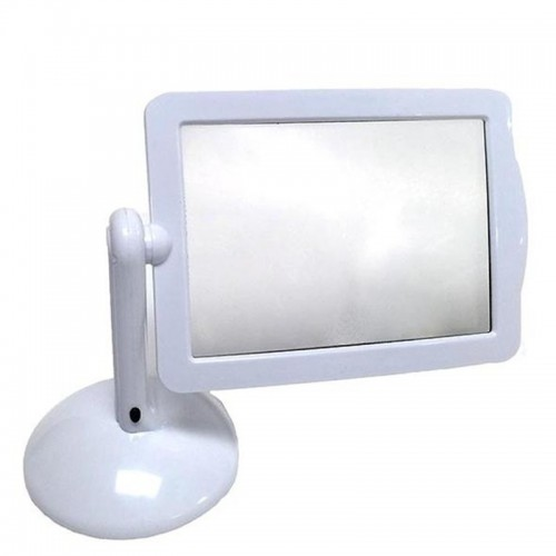 LED Screen Page Magnifier Brighter Reading Viewer Screen Hands LED Magnifier With Light In White