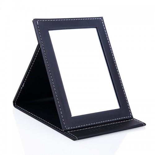 Makeup mirror Desktop PU Upscale vanity hd mirror Folding portable square princess high definition glass mirror