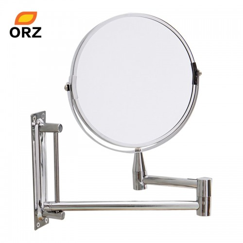 ORZ Wall Mirror Extend Double Side Bathroom Cosmetic Makeup Shaving Faced Rotatalbe 7 3X Magnifying Mirror