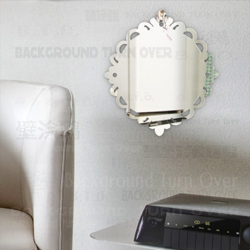 Self Adhesive Lace Frame 3mm Thick Acrylic Decorative Mirror Home Decor Living Room Bedroom Kitchen Bathroom