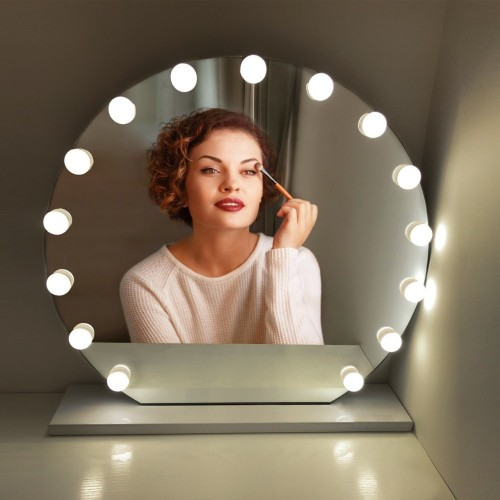 Touch Switch Dimmable Decorative Mirror Lights 10 LED Wall lamp USB LED Vanity light Bulbs Makeup
