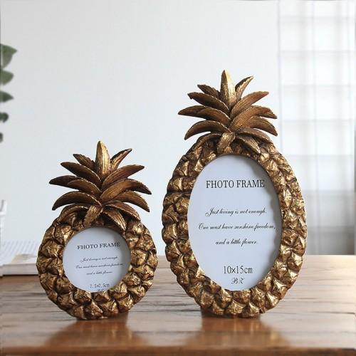 Ellipse Pineapple Retro Style Photo Frame Resin Desktop Picture Frames Best Birthday Photo