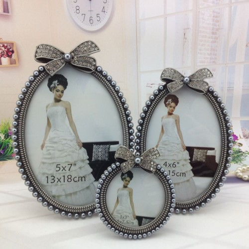 Europe style Frame on Table Home Decoation Photo Picture Frames 5x7 4x6 3x3 Round Oval Frame