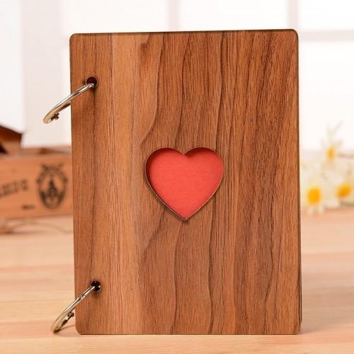 New 6inch Creative Heart Wood Photo Frame Fashion Graduation Photo Album Frames Ornaments Home Crafts Photo