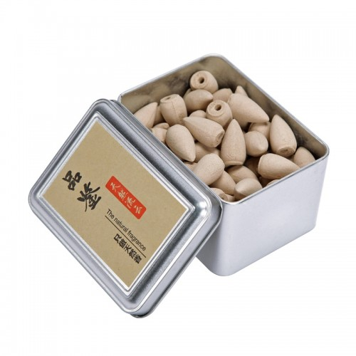 Box Packed 80Pcs Backflow Incense Cones Natural Aroma Sandalwood Reflux Incense for Tea House Meditation Colored
