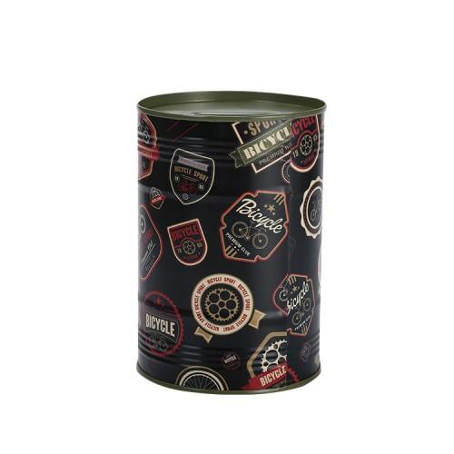 British Wind Creative Metal Money Box Children Tinplate Round Piggy Bank Saving Pot Ornaments
