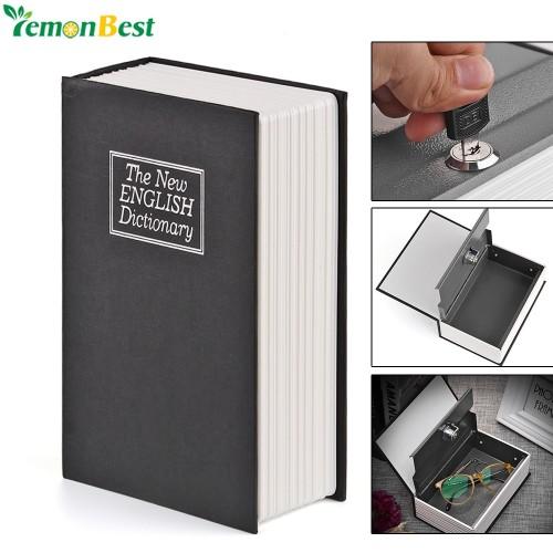 English Dictionary Safe Book Bank Shaped Piggy Bank Metal Coin Bank Money Box Figurines Saving Money