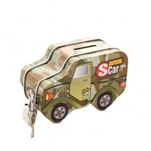 Military cars modeling Money Box Coin Bank Kids Storage Saving Piggy Bank Random