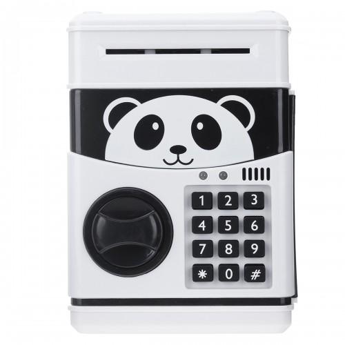 Panda Electronic Piggy Bank ATM Password Money Box Cash Coins Saving Box Bank Safe Box Automatic