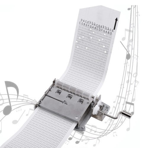 30 note Tapes Hand Crank Music Mechanical Musical Box with Hole Puncher 3 Strips Tapes Creative