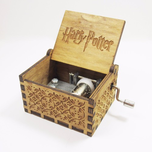 Antique Carved Wooden Harry Potter Music Box Christmas New Year Birthday Customized