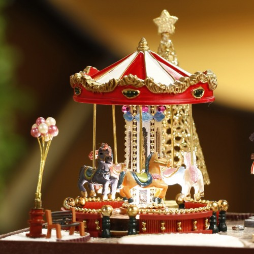 European DIY Carousel Music Box Educational Toy Music Box For Adults Handmade Music Box Made With