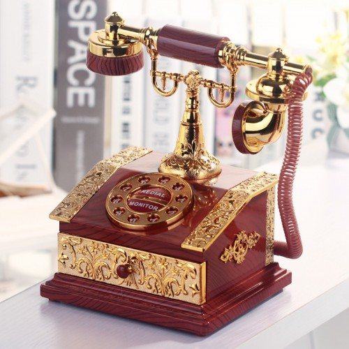 Lover Wedding Home decor Music Box Classical Red Telephone Figurine Desktop Jewelry Box Luxurious High