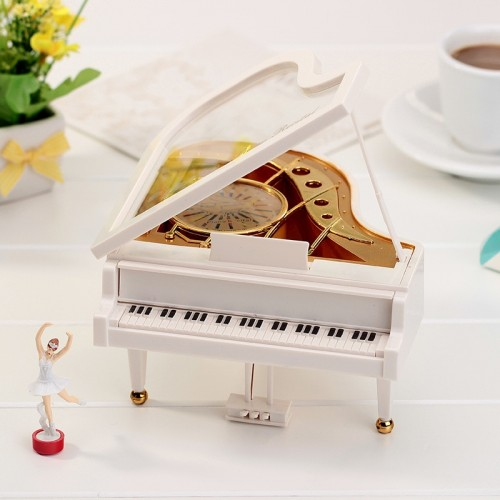 Mechanism Piano Music Box Classical Vintage Movement Girl Ballerina Music Box carrossel Piano Model Ration Girl