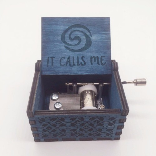 Moana IT CALLS ME music box Anonymity wooden hand crank Island Princess Birch musical boxes Action