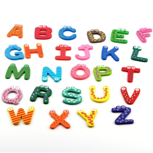 Kids 26pcs/set Alphabet Magnets Child Wooden Toy Gift
