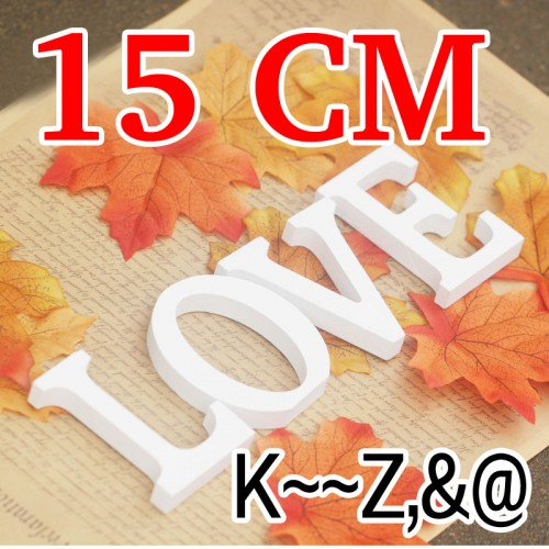 1pcs Home Decoration Artificial wooden wedding letter