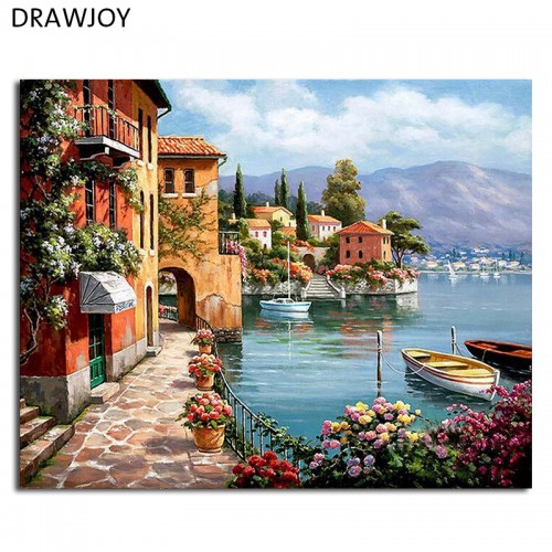 Framed Pictures Painting By Numbers Home Decoration 40x50cm