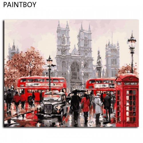 Frameless Pictures Painting By Numbers DIY Canvas Painting By Numbers 40 50cm