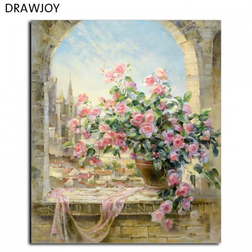 Frameless Pictures Wall Art Painting By Numbers Hand Painted Oil On Canvas40x50cm