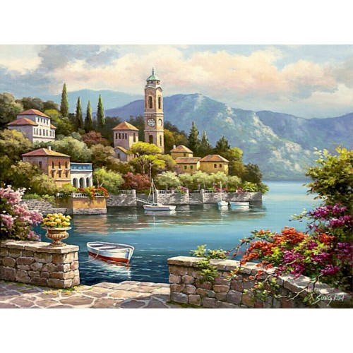 Frameless wall decor diy painting by numbers hand painted canvas painting for living room 40 50cm