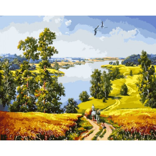 Landscape Painting By Numbers Wall Art DIY Digital Canvas Oil Painting 40x50cm
