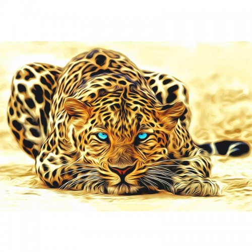 Leopard animals DIY painting by numbers Acrylic picture wall art canvas painting home decor40x50cm