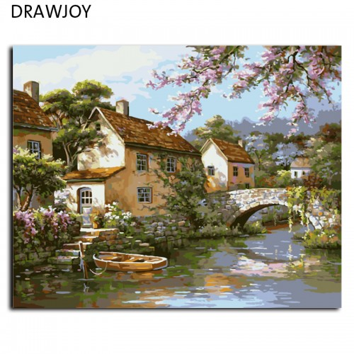 Painting By Numbers DIY Oil Painting On Canvas Home Decoration 40x50cm