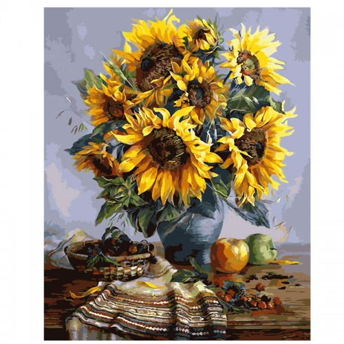 SunFlowers Frameless picture on wall acrylic oil painting by numbers 40x50cm