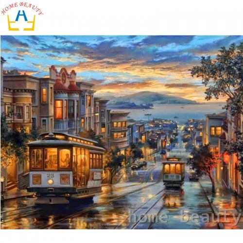 picture paint on canvas diy digital oil painting paint 40x50cm
