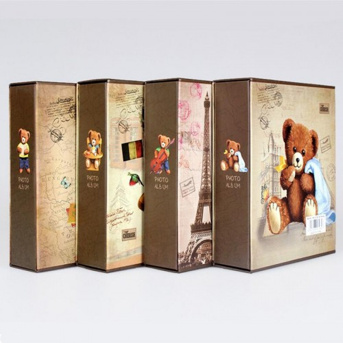 100 Sheets Bear Photo Album Scrapbook Interleaf Type Classical 6 Inch Family Paper Cartoon Photo