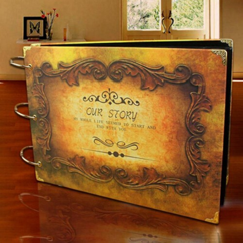 8 Style 10 Inch Butterfly Diy Handmade Vintage Photo Album Wedding Photo Albums