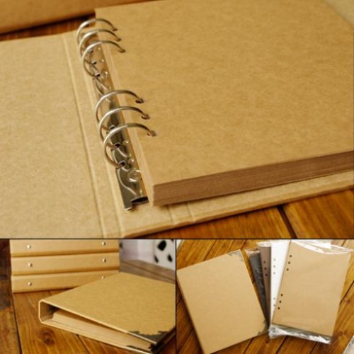 Blank Cover Loose Leaf Album Concise Kraft Paper Diary Hand Painted Graffiti Diary Photo Album For