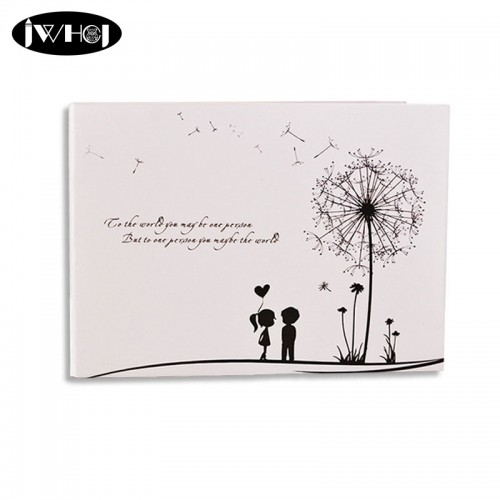 Dandelion couples 10inch Photo Album diy Wedding Photos Family Memory Record Album diy Sticky Type album