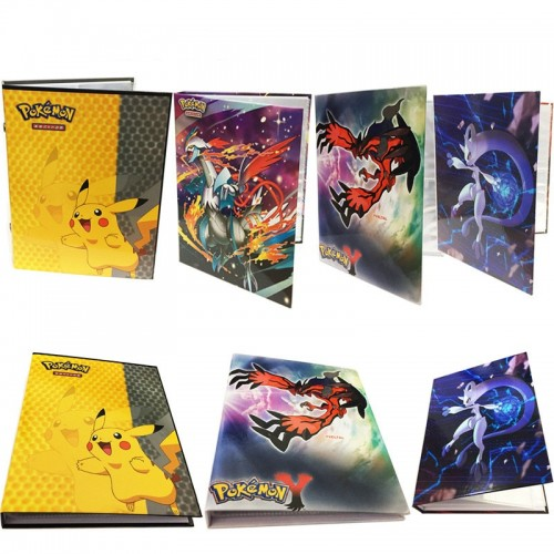 Pikachu Collection Pokemon cards Album Book Top loaded List playing pokemon cards holder album toys