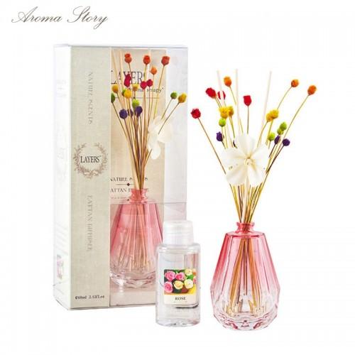 60ml Sola Flower Rattan Sticks Diffuser 12 Scents Rose Jasmine Lavender Lily Osmanthus Magnolia Ocean Musk