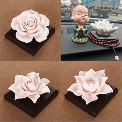 Ceramic Rose Flower Essential Oils Scent Diffuser Air Freshener Home Fragrance Scents Accessories Decor