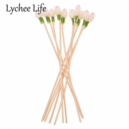 Lychee Life 10pcs 3mm Artificial Flower Reed Diffuser Replacement Stick DIY Handmade Home Decoration Modern Simple