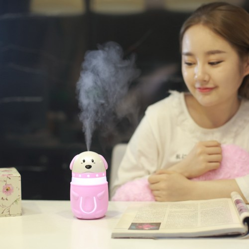 Reed Diffuser Sets ABS Cute Dog Ultrasonic Humidifier Home Office Humidifier Mini Colorful Night Light 13