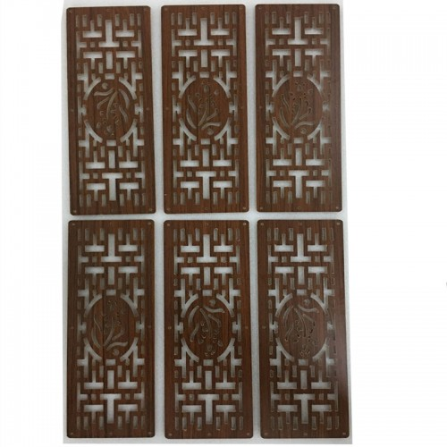 6PCS 19CMx39CM Compartmentation Hanging Wooden carved Cutout Carving room divider partition wall biombo room Dividers Partitions