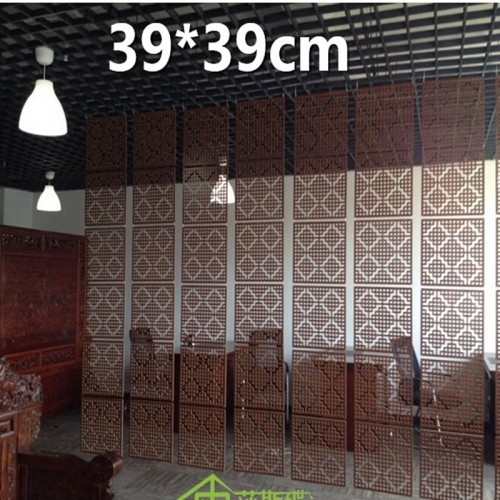 6pcs lot Wood Screen Divider Hanging Screen partition bedroom wall post entry living room Home decoration