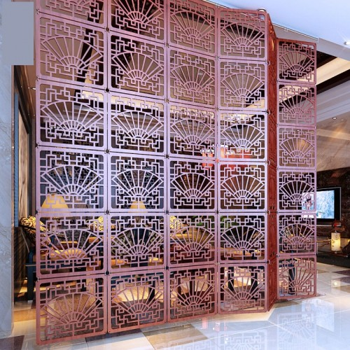 Foldable screen for the room Decorative partition Blinds Shield for rooms Plastic hanging Wood Retro hollow