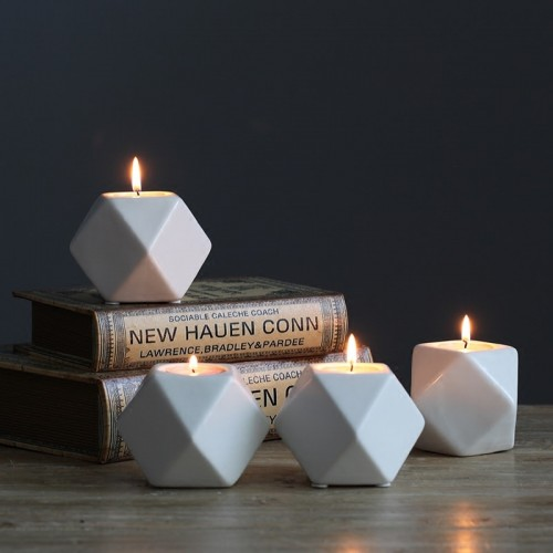 Candlestick Candle Ceramic Candle Holder Ornaments Nordic Romantic Candlestick Wedding Candlelight Dinner Wedding Decro
