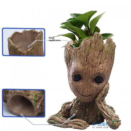 Tree Man Baby Anime Sculpture Action Figure Dolls Penholder Guardians of The Galaxy 2 Model Hero
