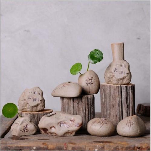 Small tabletop vase decoration flower green potted plants Flower plug pots mini classic ceramic vases