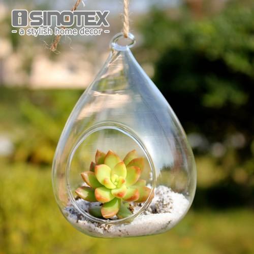 Terrarium Glass Vaso 12 8cm 4 7 3 Waterdrop Hanging Vase Dinner Planter Container Pots Home