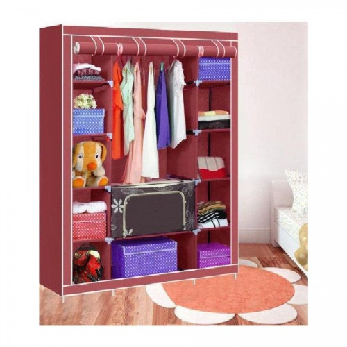 Portable Fabric Wardrobe For Section 3 Storage HCX 68130