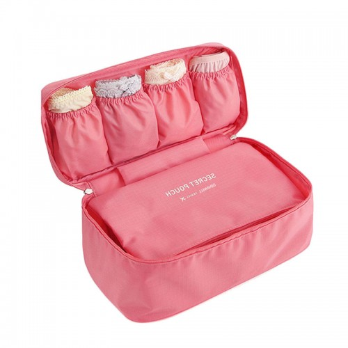 Bra Underwear Storage Bag Waterproof Nylon Travel Portable Makeup Organizer Handbag Cosmetic Container