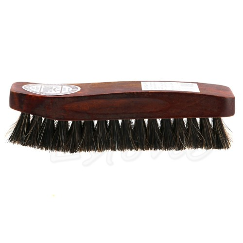 Practical Horse Hair Professional Shoe Shine Polish Buffing Brush Wooden New brown shoe brush home cleaning