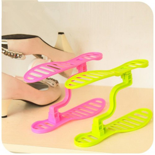 new fashion Creative Double integral plastic removable shoe rack Three dimensional storage shoe rack